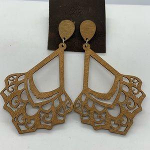 NWT Boho Wooden Earrings